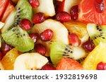 fruit salad close up in full... | Shutterstock . vector #1932819698