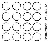 round shape. grunge texture...   Shutterstock .eps vector #1932832265
