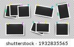 realistic photo frames with... | Shutterstock . vector #1932835565