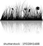 vector grass silhouettes... | Shutterstock .eps vector #1932841688
