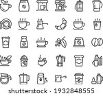 food line icon set   hot cup ... | Shutterstock .eps vector #1932848555