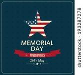 abstract memorial day... | Shutterstock .eps vector #193287278