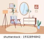 trendy interior design of... | Shutterstock .eps vector #1932894842