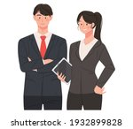 confident posture female and...   Shutterstock .eps vector #1932899828