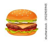 hamburger or cheeseburger... | Shutterstock .eps vector #1932905945