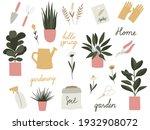 garden tools set. vector... | Shutterstock .eps vector #1932908072