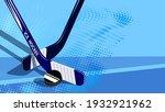 crossed sports sticks for ice... | Shutterstock .eps vector #1932921962