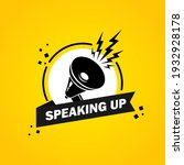 megaphone with speaking up...   Shutterstock .eps vector #1932928178