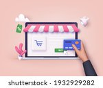 online shopping.design graphic... | Shutterstock .eps vector #1932929282
