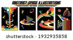 abstract space illustrations ... | Shutterstock .eps vector #1932935858