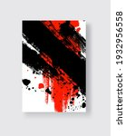 black and red ink brush stroke... | Shutterstock .eps vector #1932956558
