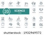 science icon set. contains... | Shutterstock .eps vector #1932969572