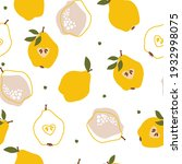 seamless pattern with pears ... | Shutterstock .eps vector #1932998075