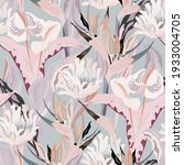 anthurium and strelitzia... | Shutterstock .eps vector #1933004705