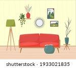 cute minimalistic interior. red ...   Shutterstock .eps vector #1933021835