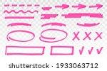 pink highlighter set   lines ...   Shutterstock .eps vector #1933063712