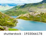 View Of Beautiful Lakes In...