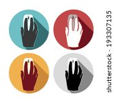 flat icons set hand mouse | Shutterstock .eps vector #193307135