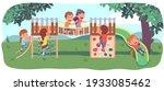 Big Children Playground. Happy...