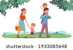 mother  father  daughter  son... | Shutterstock .eps vector #1933085648