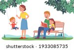 mother  father  daughter  son... | Shutterstock .eps vector #1933085735