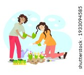 happy gardening vector flat... | Shutterstock .eps vector #1933094585