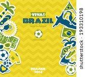 brazil background | Shutterstock .eps vector #193310198