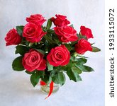 A Bouquet Of Gorgeous Red Roses ...