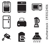 kitchen appliances | Shutterstock .eps vector #193312406