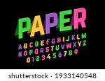 origami style font design ... | Shutterstock .eps vector #1933140548