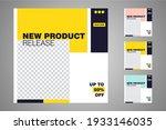 new set of editable minimal... | Shutterstock .eps vector #1933146035