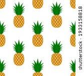 pineapple  leaf seamless... | Shutterstock .eps vector #1933158818