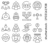 team vector icon set.... | Shutterstock .eps vector #1933161938