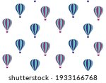 hot air balloons seamless... | Shutterstock .eps vector #1933166768