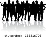 group of people  | Shutterstock .eps vector #193316708