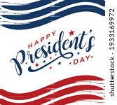 happy presidents day in united...   Shutterstock .eps vector #1933169972