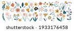 flower collection with leaves ... | Shutterstock .eps vector #1933176458
