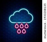 glowing neon line cloud with...   Shutterstock .eps vector #1933208135