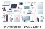 home appliances elements with... | Shutterstock .eps vector #1933212845