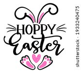 hoppy easter   hand drawn... | Shutterstock .eps vector #1933240475