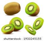 realistic 3d  kiwi. juicy... | Shutterstock .eps vector #1933245155
