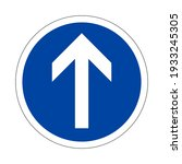 road traffic sign. proceed... | Shutterstock .eps vector #1933245305
