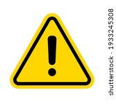 hazard warning attention sign... | Shutterstock .eps vector #1933245308