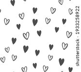 hand drawn doodle hearts...   Shutterstock .eps vector #1933258922