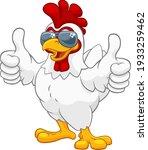 a chicken rooster cockerel bird ... | Shutterstock .eps vector #1933259462
