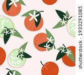 seamless pattern of orange... | Shutterstock .eps vector #1933291085