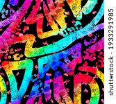 abstract bright graffiti... | Shutterstock .eps vector #1933291985