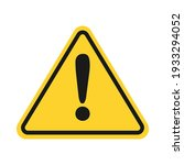 triangle yellow caution sign... | Shutterstock .eps vector #1933294052