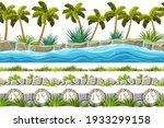 set of seamless border old gray ...   Shutterstock .eps vector #1933299158