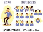 stretch exercises to relieve...   Shutterstock .eps vector #1933312562